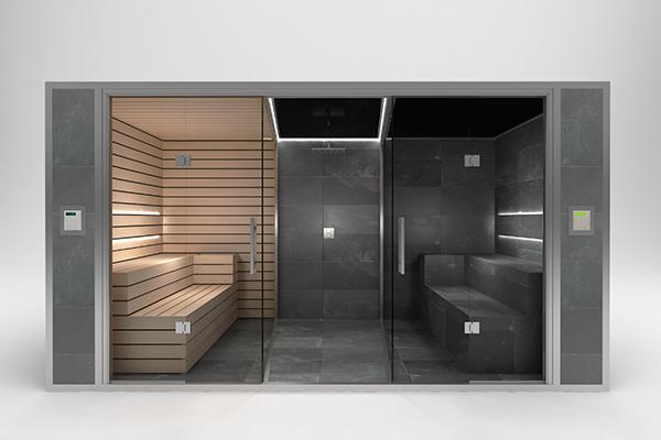 Hammams carrel s ouest spas la rochelle nantes bordeaux - Cabine sauna hammam combine ...